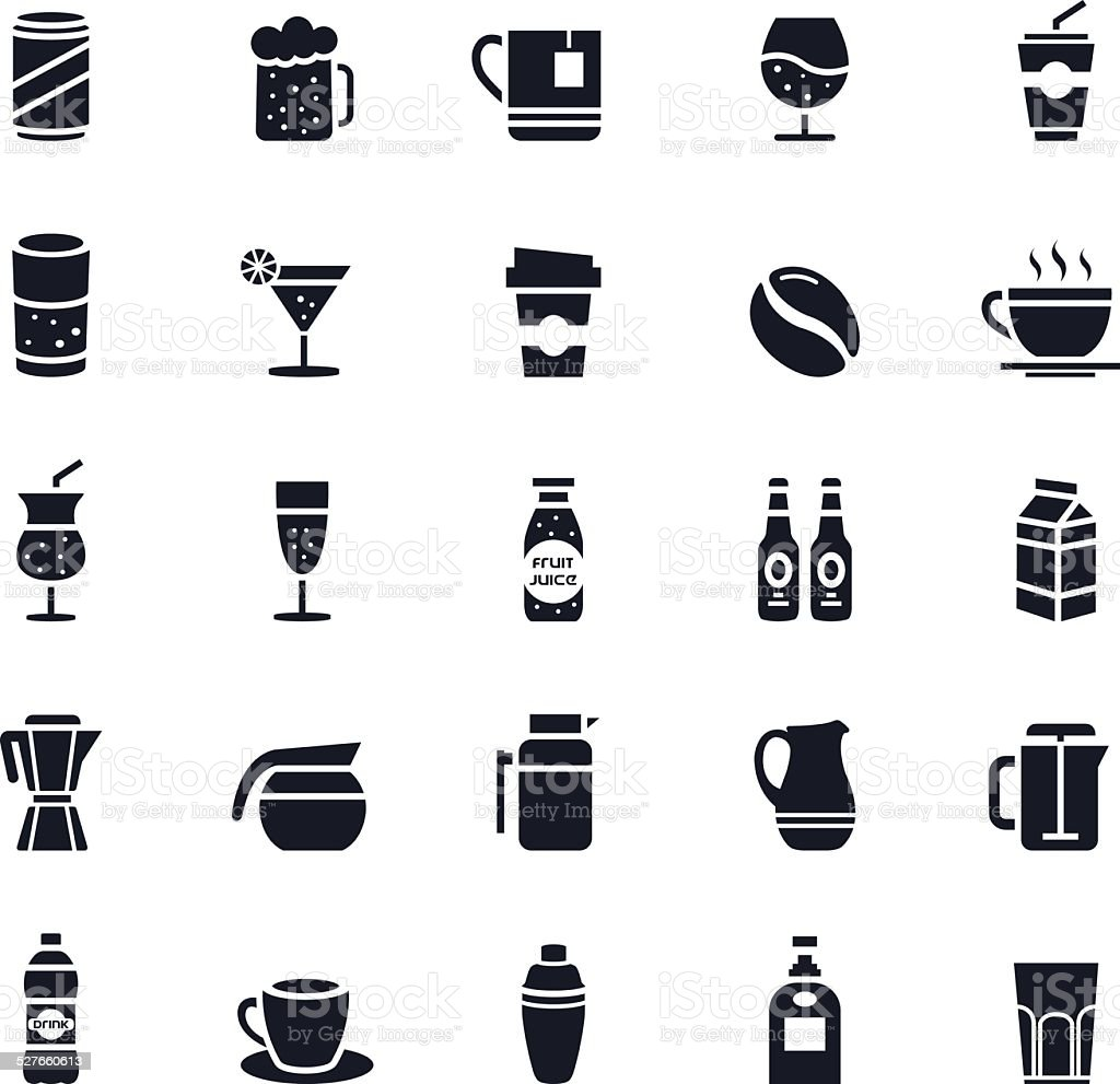 Beverage Icon vector art illustration