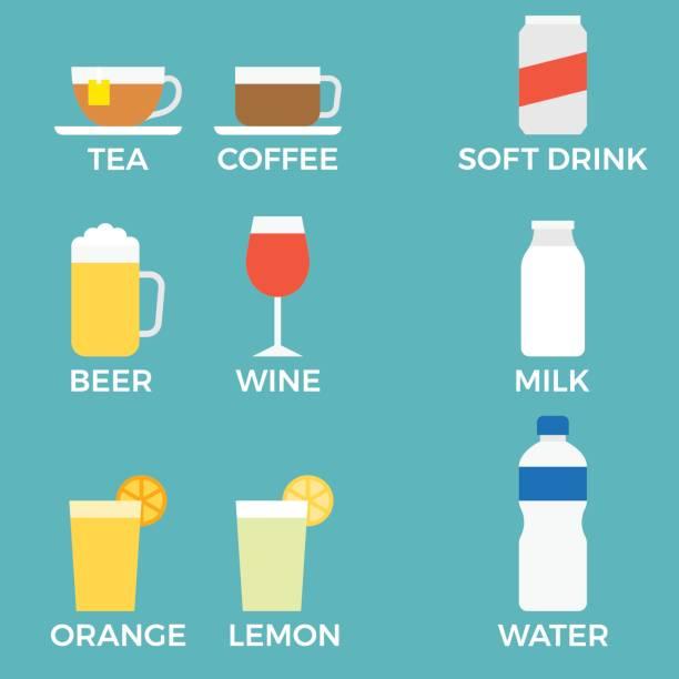 illustrazioni stock, clip art, cartoni animati e icone di tendenza di beverage icon with name - fruit juice bottle isolated