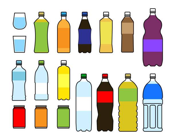 illustrations, cliparts, dessins animés et icônes de matériau d'ensemble d'illustration de boisson / vecteur - infusion pamplemousse