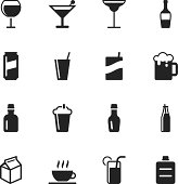 Beverage Silhouette Vector EPS10 File Icons Set 3.