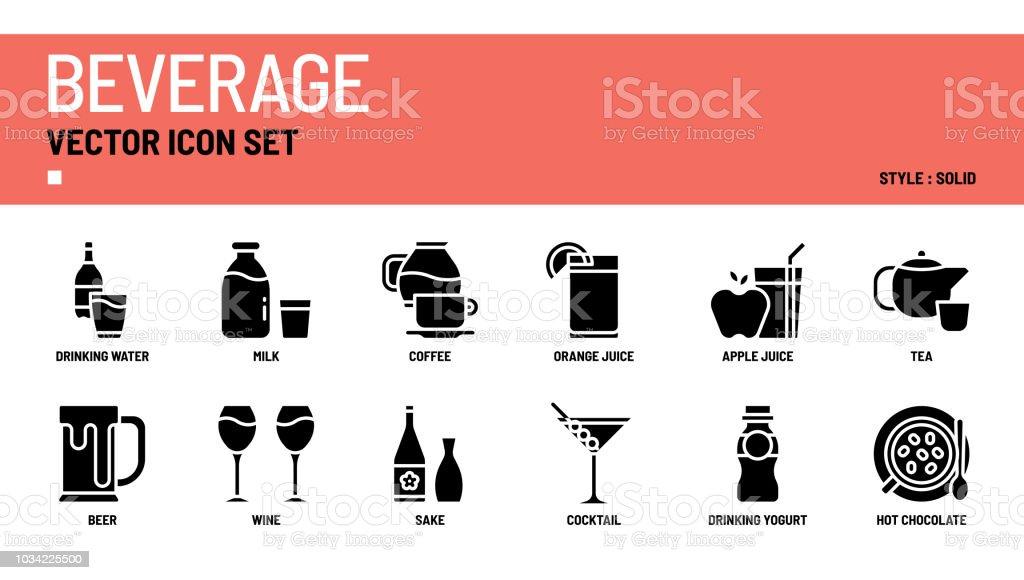 Getränke-Vektor-Icon-set – Vektorgrafik