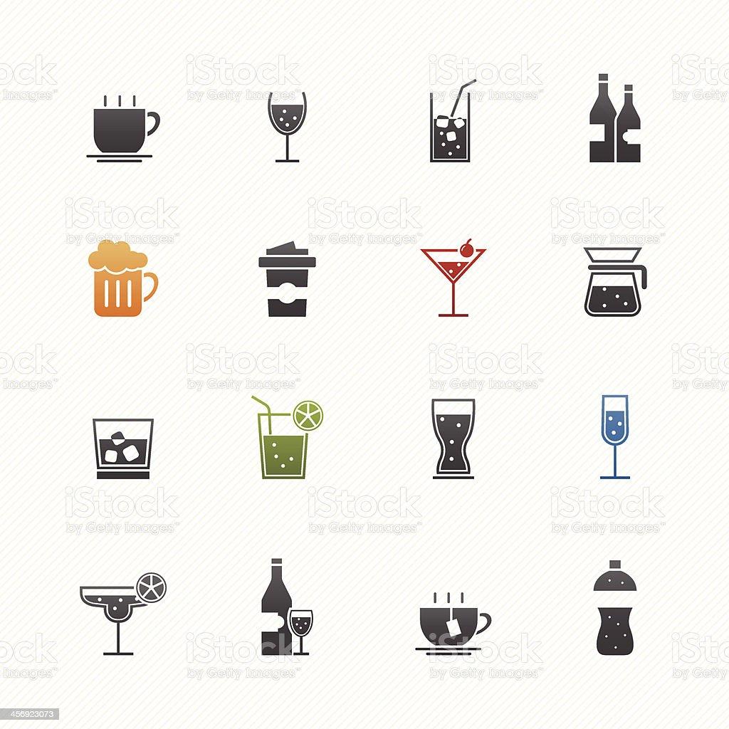 Bevanda icona set vettoriale simbolo - illustrazione arte vettoriale