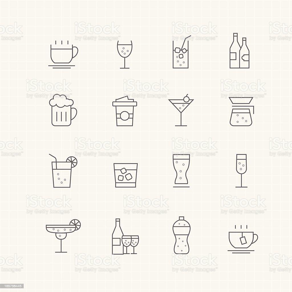 Bevande vettoriale simbolo icona Spessore linea - illustrazione arte vettoriale