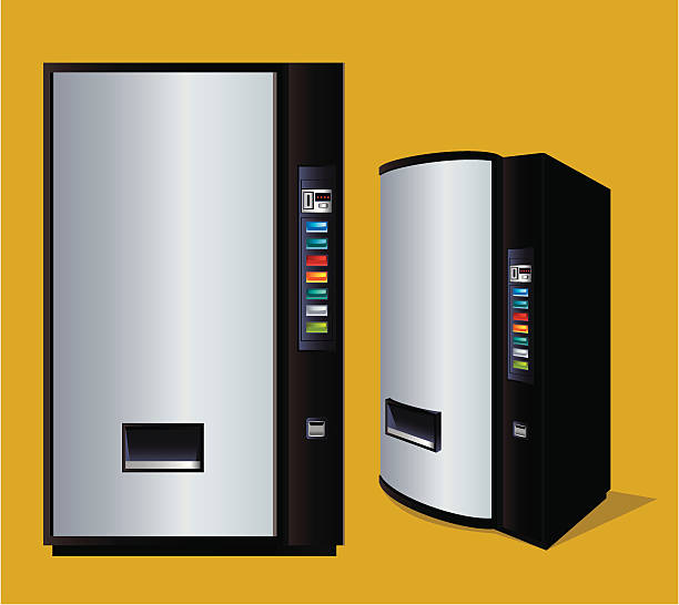 beverage vending machine - empty vending machine stock illustrations
