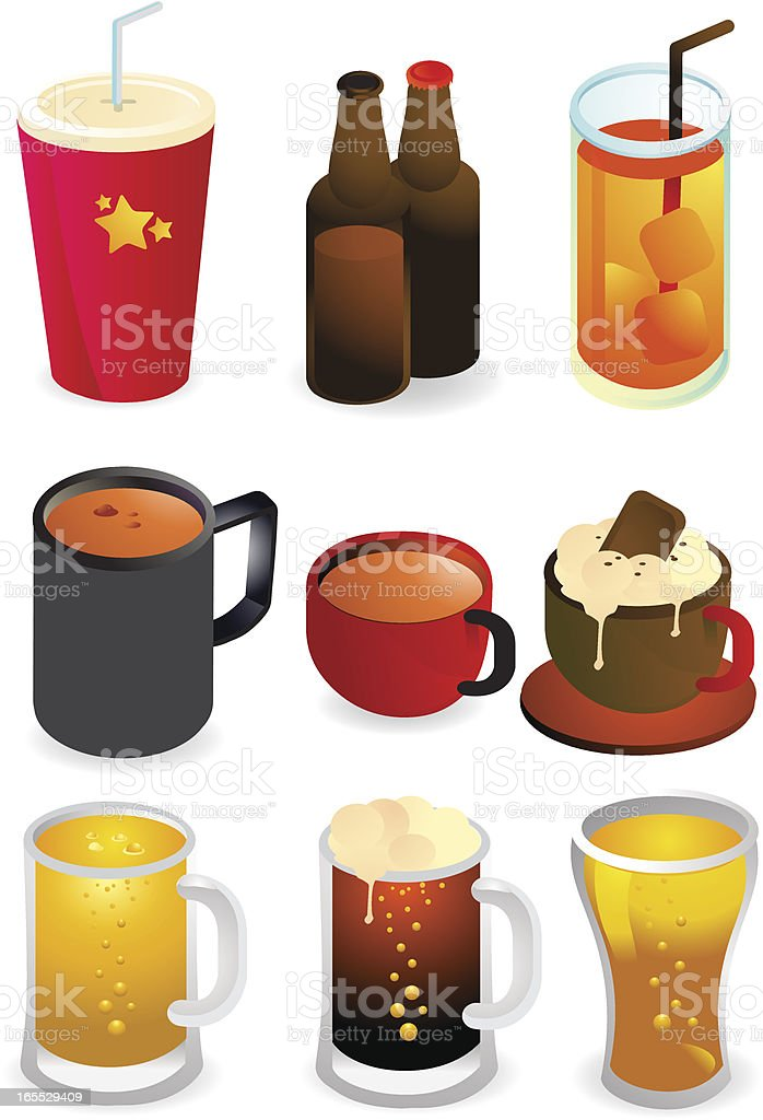 Beverages and Drinks & Coffee Icons royalty-free beverages and drinks coffee icons stock vector art & more images of alcohol