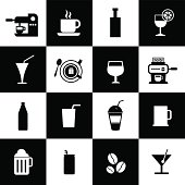 Beverages icons set for use