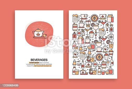 istock Beverages Related Design. Modern Vector Templates for Brochure, Cover, Flyer and Annual Report. 1209968499