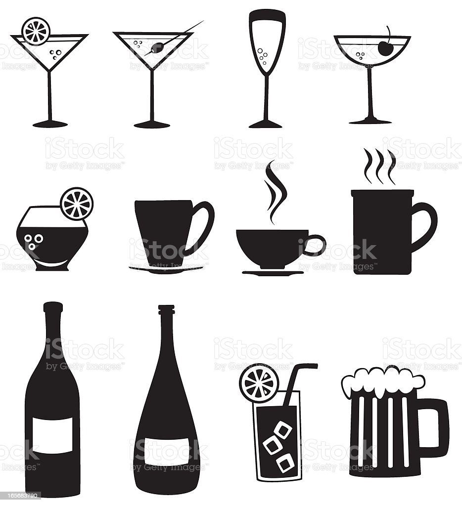 Beverages royalty-free stock vector art