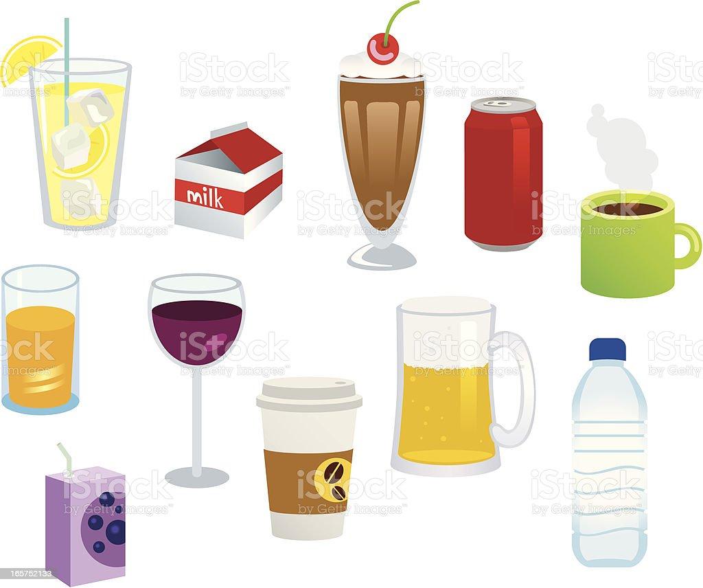 Le bevande - illustrazione arte vettoriale