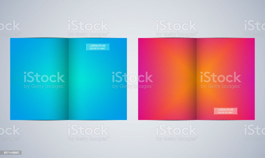 Bi Fold Brochure Template Layout Flyer Cover Annual Report Magazine