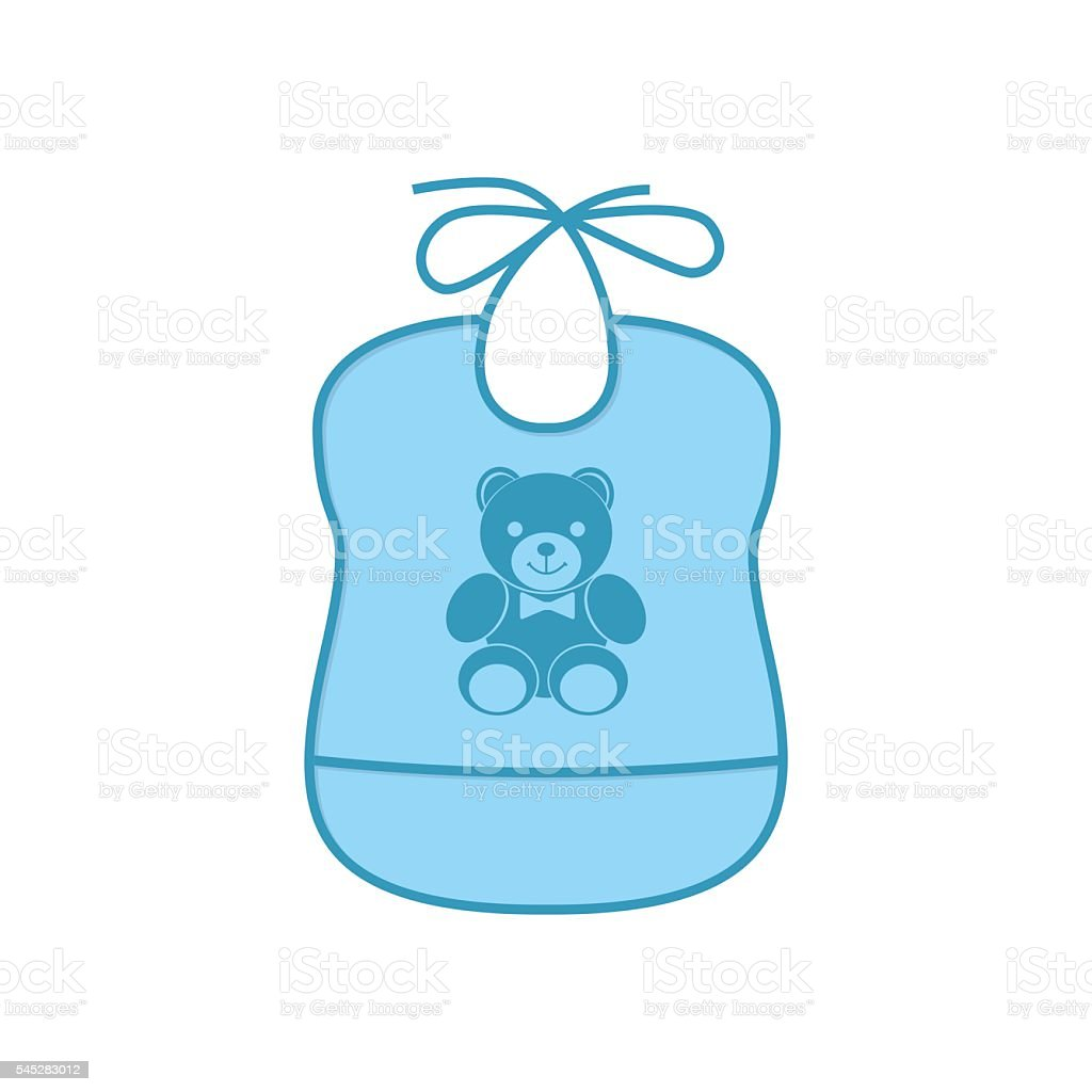 royalty free baby bib clip art vector images illustrations istock rh istockphoto com baby boy bib clipart baby boy bib clipart