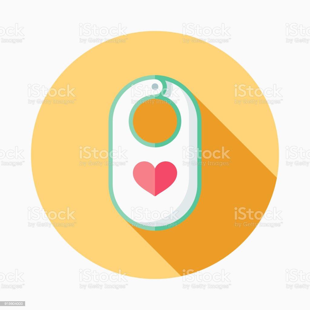 Icône de bébé Bavoir Design plat - Illustration vectorielle