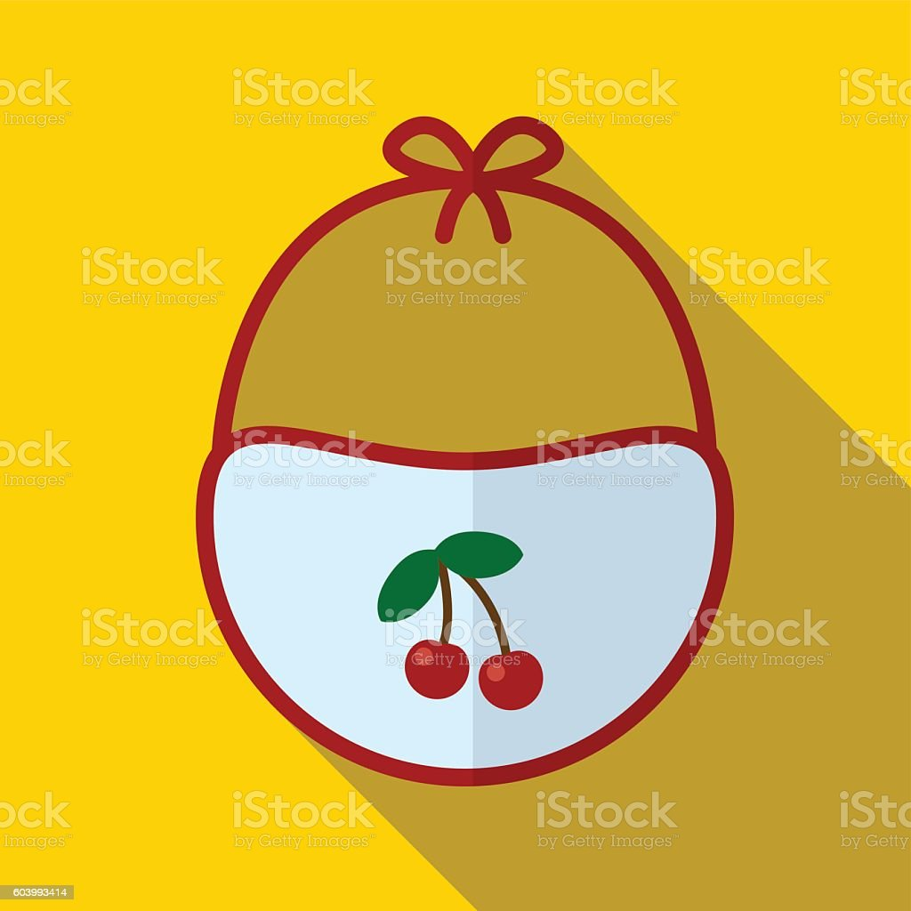 Bib flat icon illustration - Illustration vectorielle