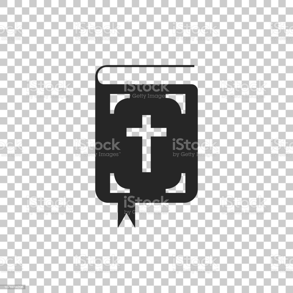 Bible book icon isolated on transparent background. Holy Bible book...
