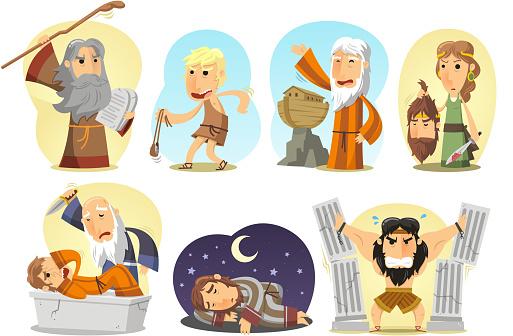 Bible Heroes Samson Noe Moises Judith David Joseph Abraham