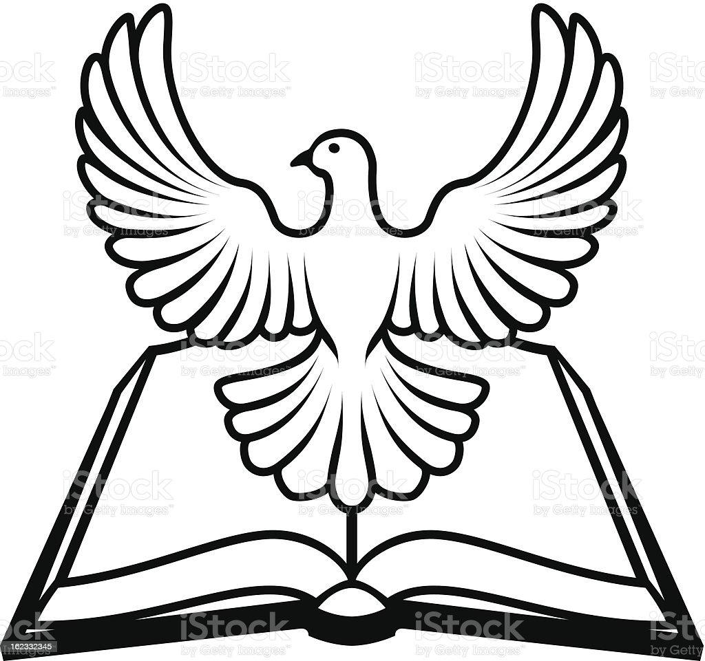 Bible holy spirit concept stock vector art more images of animal animal bible bird dove bird animal body part bible holy spirit biocorpaavc