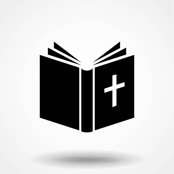 ilustrações de stock, clip art, desenhos animados e ícones de bible icon. elements of web icons in flat design. vector illustration. - evangelho