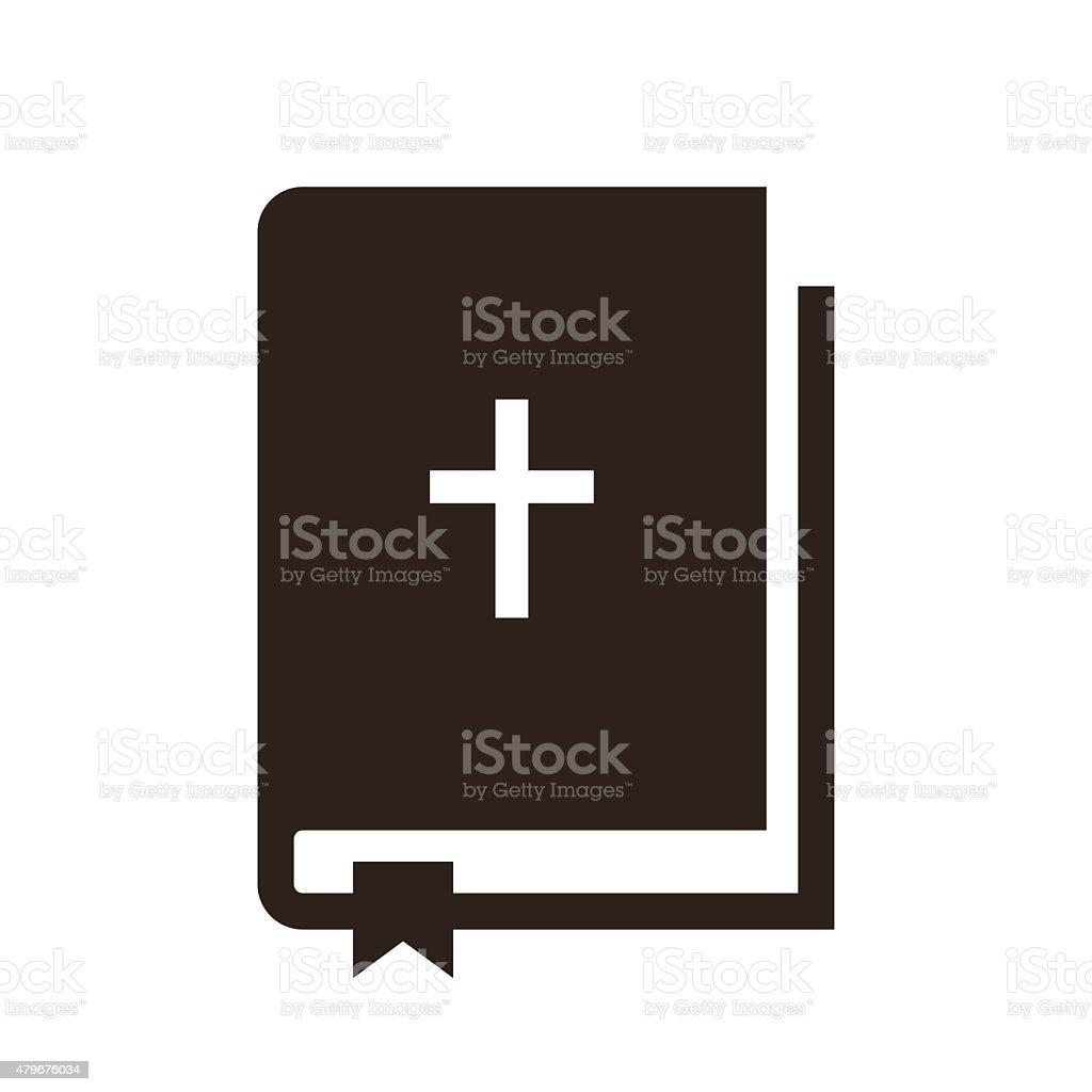 Biblia icono - ilustración de arte vectorial