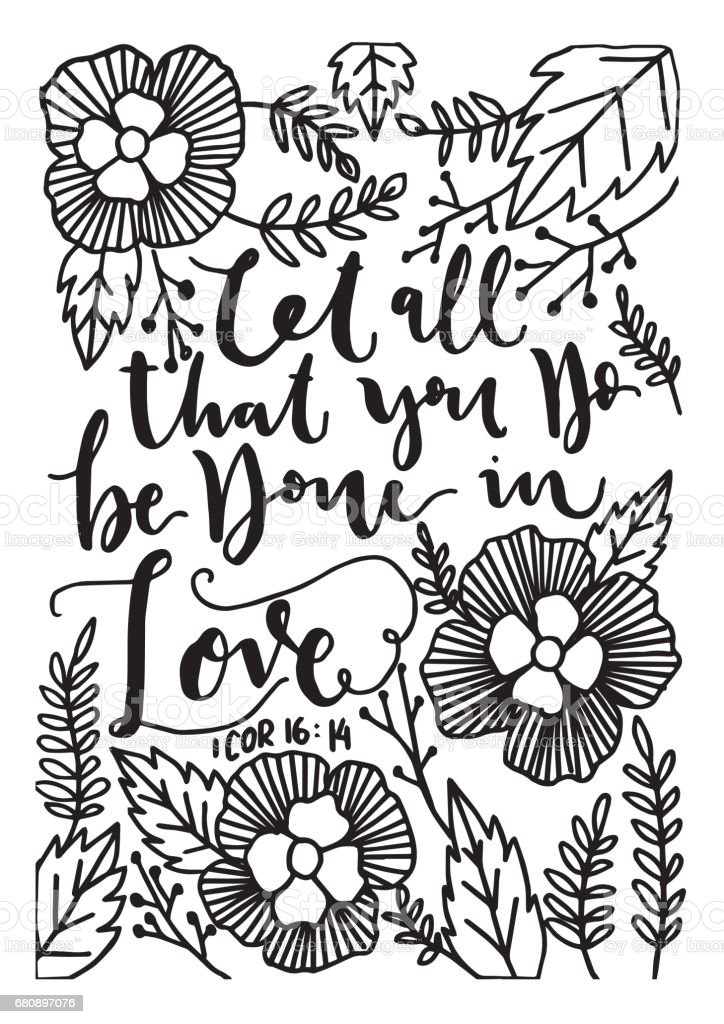 Bible Quote. Corinthian vector art illustration