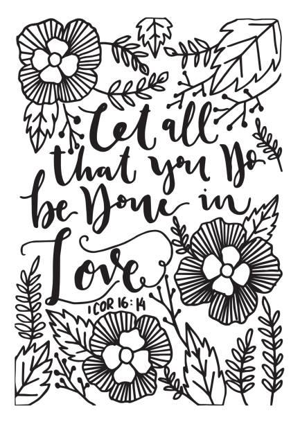 Bible Quote. Corinthian vector art illustration