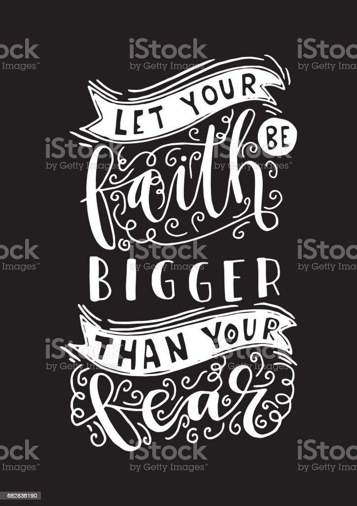 Bibel-Zitat. Glauben Lizenzfreies bibelzitat glauben stock vektor art und mehr bilder von angst