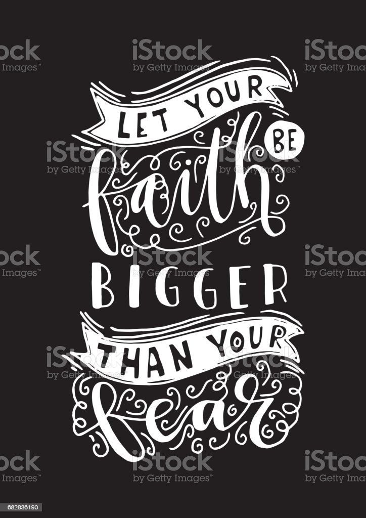 Bible Quote. Faith vector art illustration