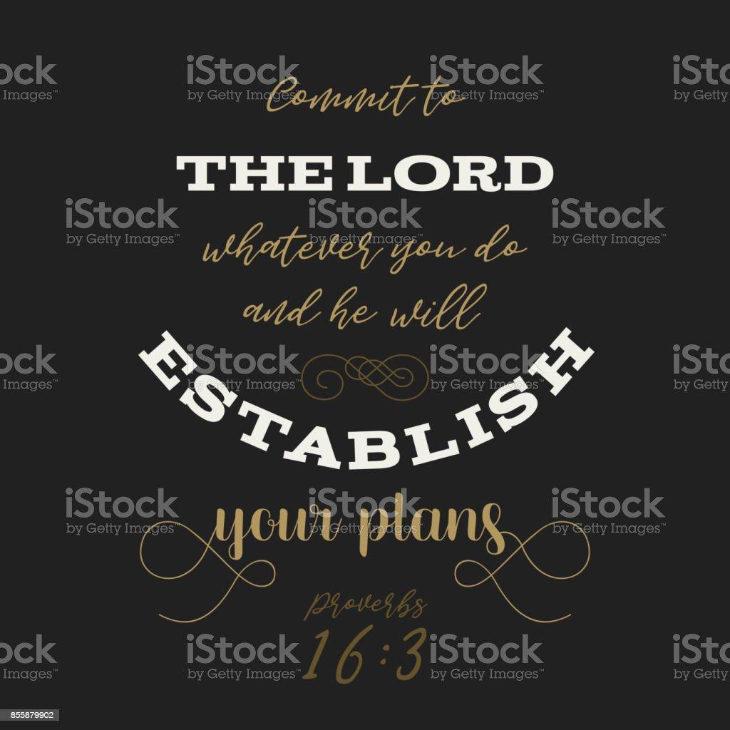 Amante Bible Citation De Proverbes Dieu établir Vos Plans De Typographie #NE_25