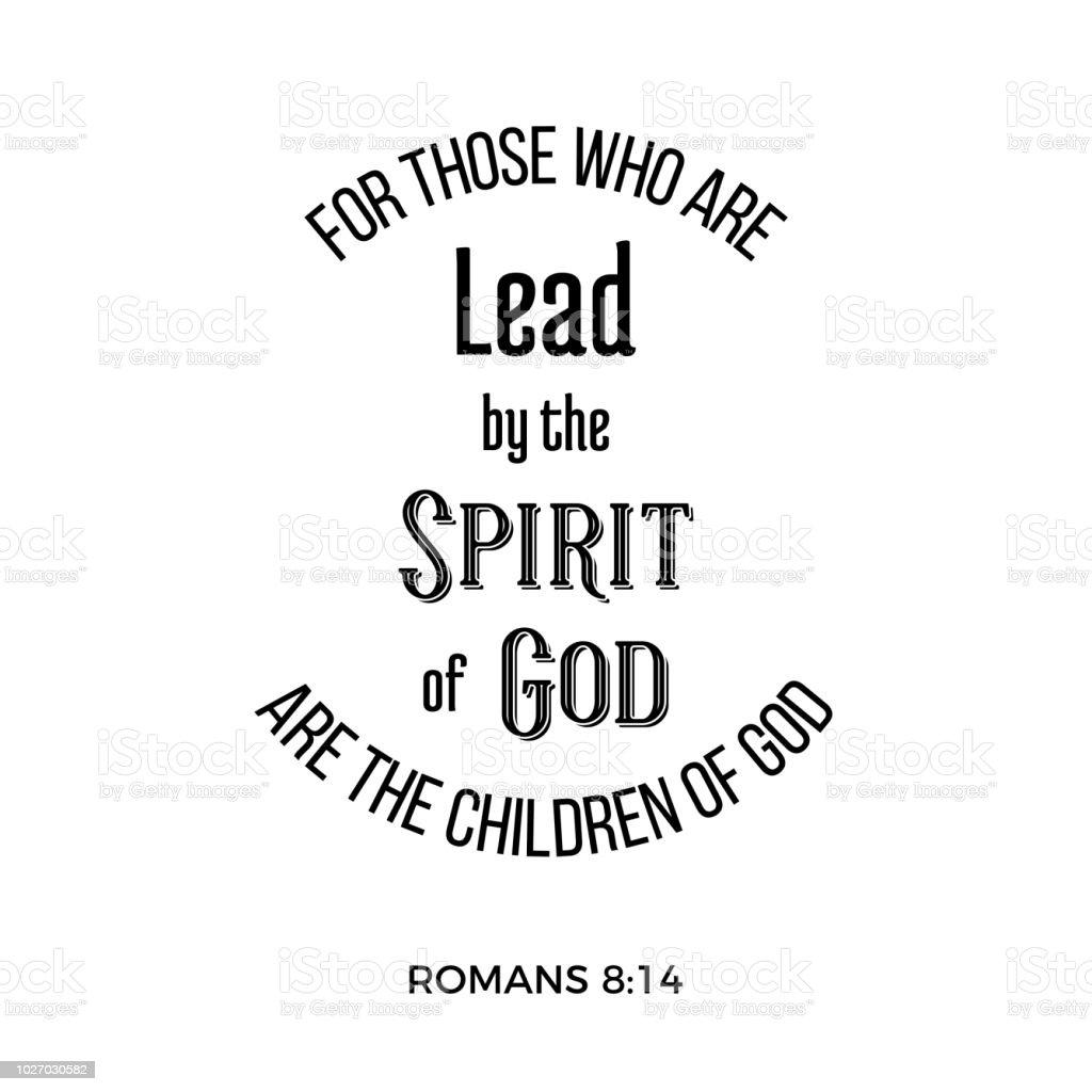 Bibel Zitat Von Römern Für Diejenigen Die Eine Führung Durch Den ...