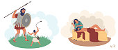 istock Bible Stories characters, vector flat isolated illustration 1252858612