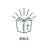 Bible vector line icon, linear concept, outline sign, symbol