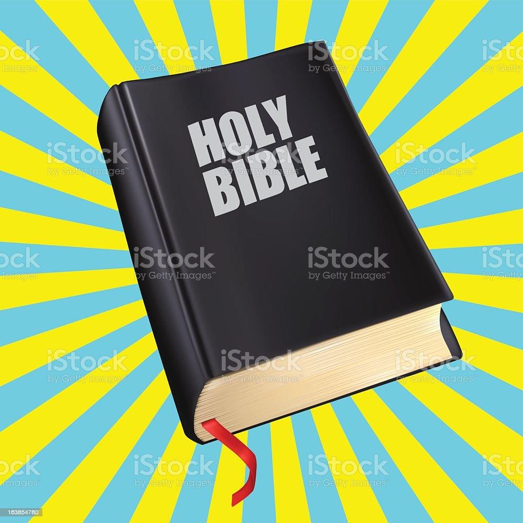 Biblia con la pestaña roja - ilustración de arte vectorial