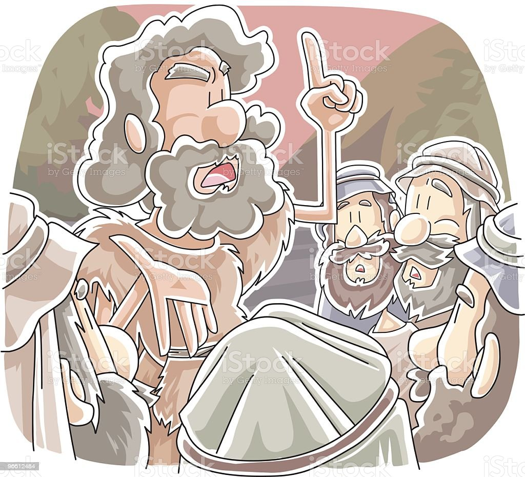 Biblical imagery of John the Baptist - Royalty-free Adult stock vector