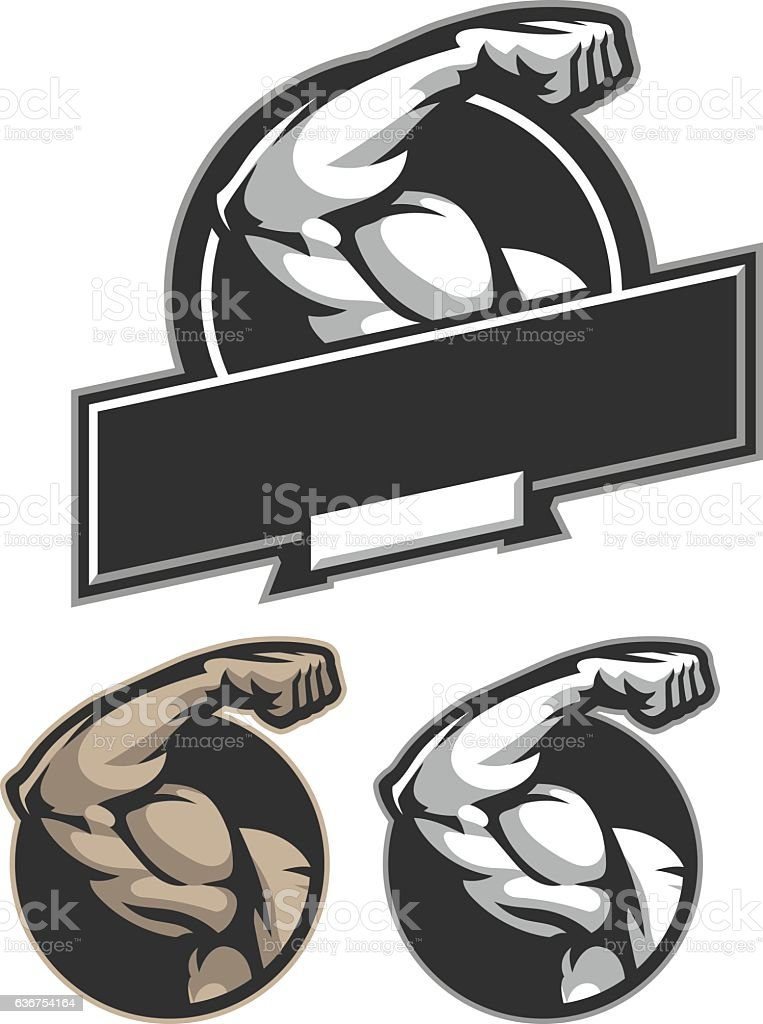 Bicep Flex vector art illustration