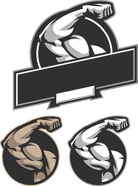 Flexión de bíceps - ilustración de arte vectorial