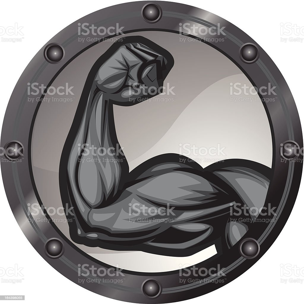 Bicep Flexing Icon vector art illustration