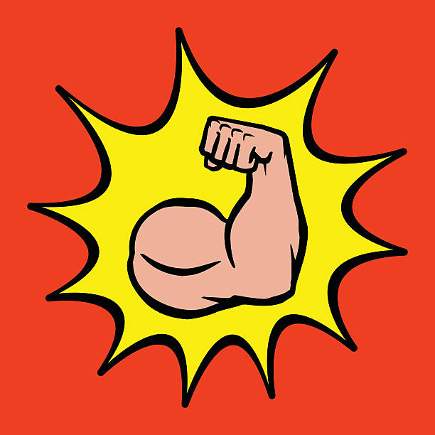 Royalty Free Cartoon Muscle Arms Clip Art, Vector Images ...