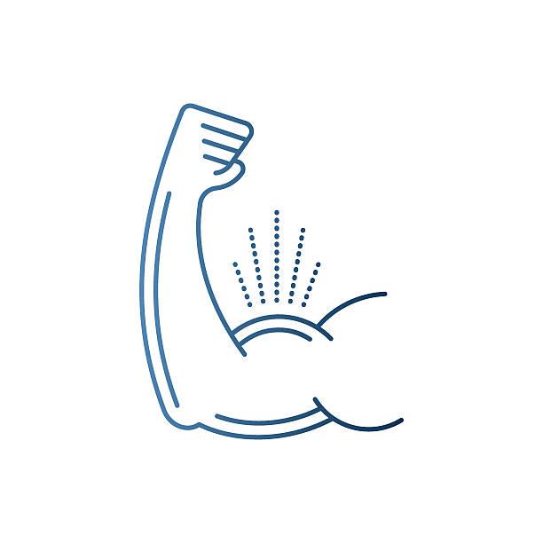 Biceps Flex Arm vector art illustration