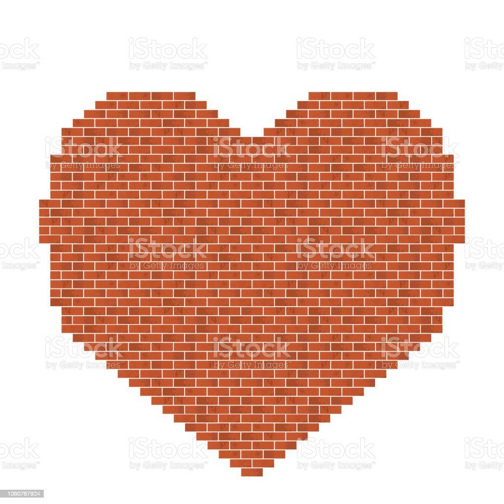 Bicks heart shape. - ilustração de arte vetorial