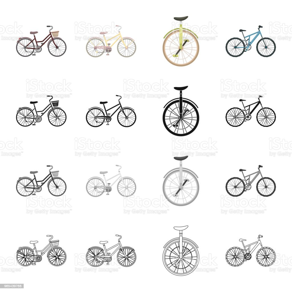 A bicycle, a vehicle for recreation and sports. Different kinds of bicycles set collection icons in cartoon black monochrome outline style vector symbol stock isometric illustration web. royalty-free a bicycle a vehicle for recreation and sports different kinds of bicycles set collection icons in cartoon black monochrome outline style vector symbol stock isometric illustration web stock vector art & more images of bicycle