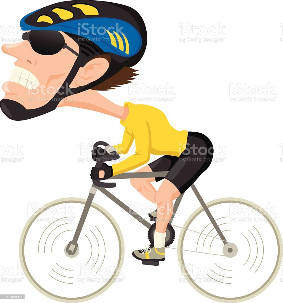 Bicycle Athlete royalty-free stock vector art