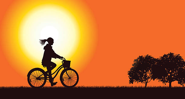 Bicycle Background vector art illustration