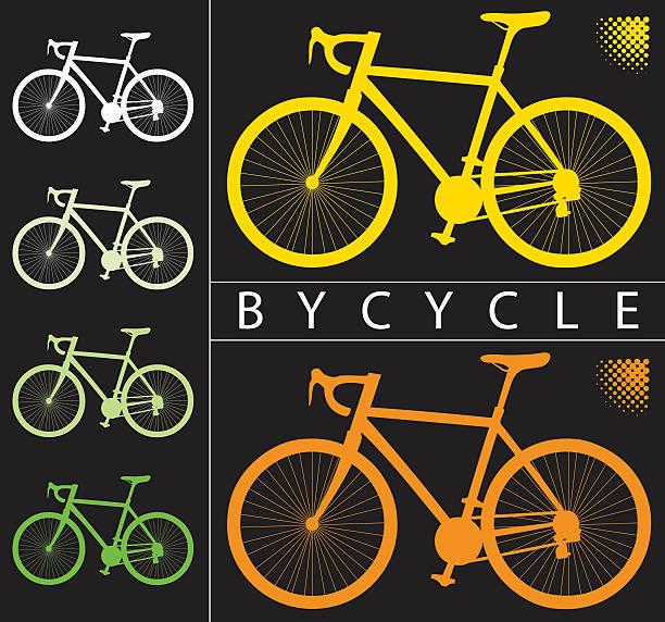 bildbanksillustrationer, clip art samt tecknat material och ikoner med bicycle background - wheel black background