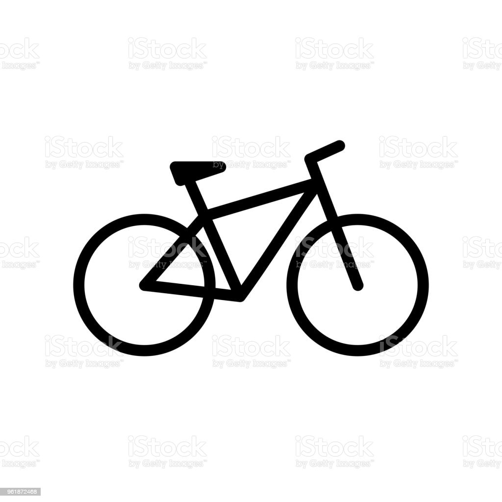 Bicycle. Bike icon vector in flat style - Royalty-free Ao Ar Livre arte vetorial