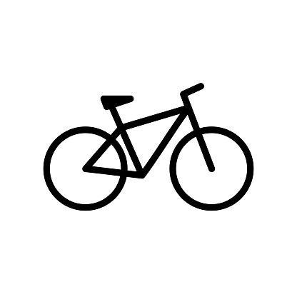 Bicycle. Bike icon vector in flat style