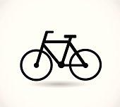Bicycle black icon vector