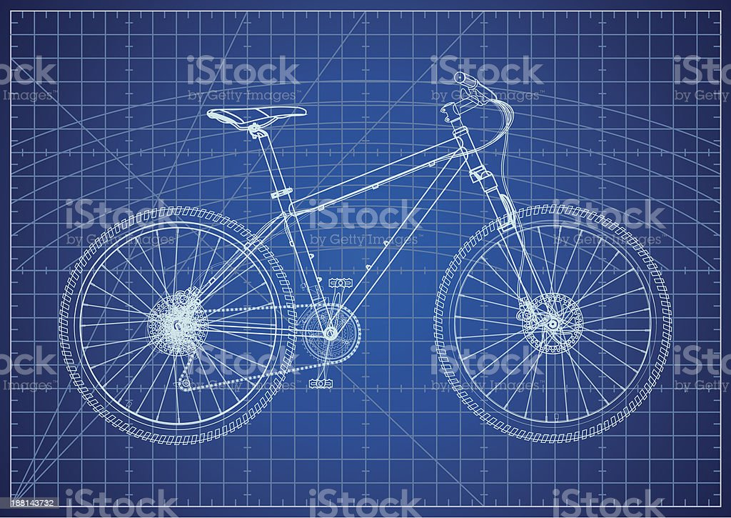 Bicycle blueprint stock vector art more images of art 188143732 bicycle blueprint royalty free bicycle blueprint stock vector art amp malvernweather Images