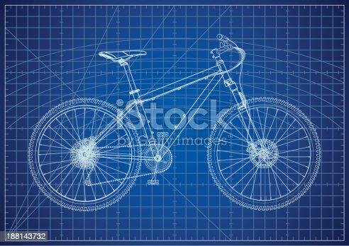 istock Bicycle Blueprint 188143732