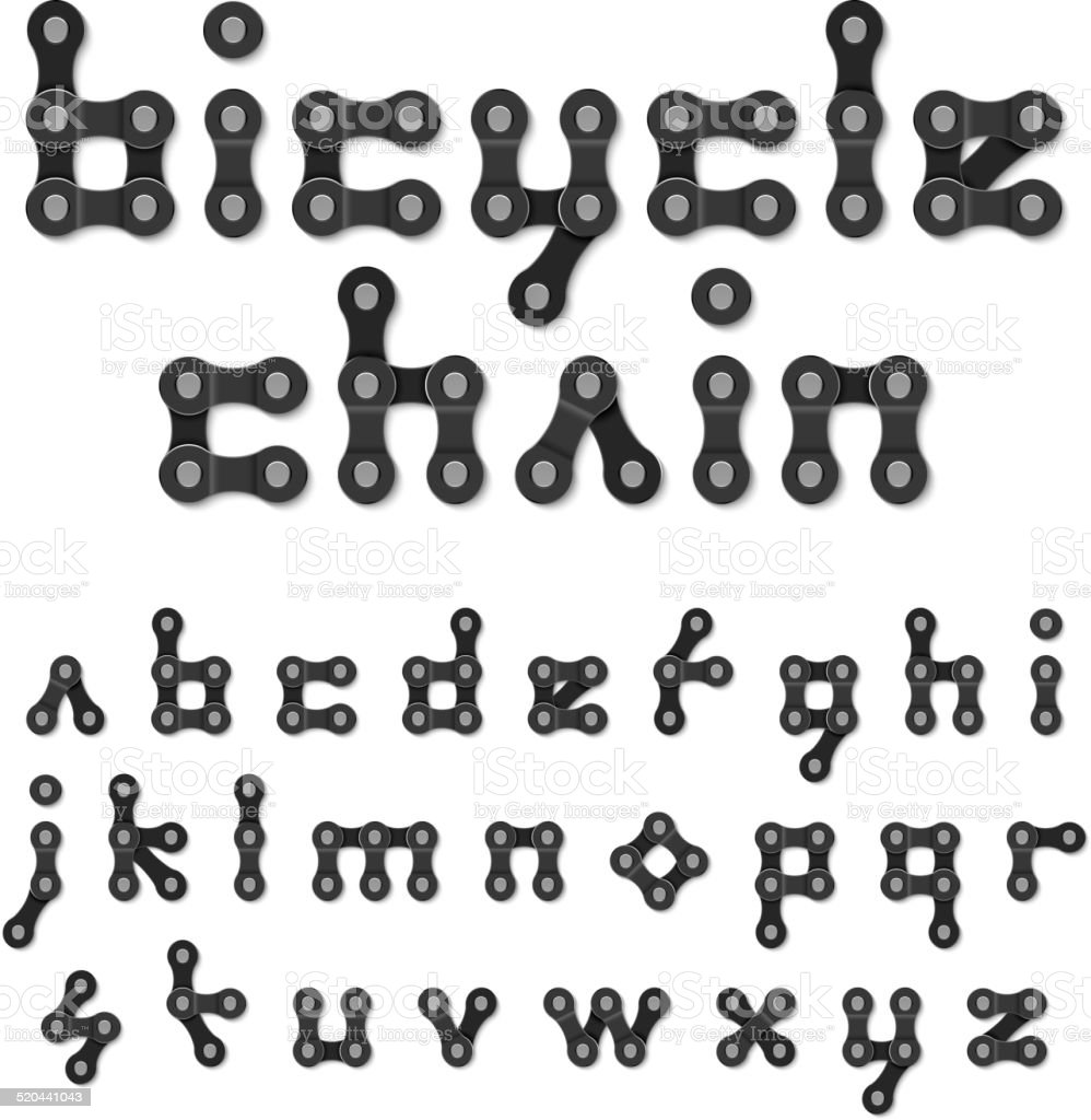 Bicycle chain alphabet