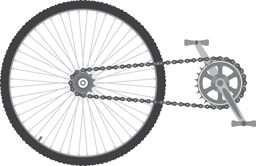 Bicycle chain transmission