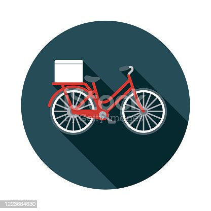istock Bicycle Delivery Icon 1223664630